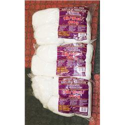 LOT OF 3- WHITE 1LB BAGS OF 100% ACRYLIC YARN