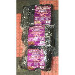LOT OF 3- BLACK  1LB BAGS OF 100% ACRYLIC YARN