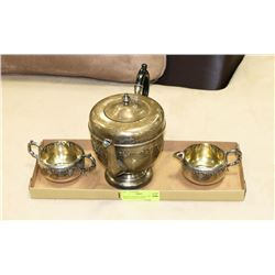 VINTAGE TEA SET CIRCA 1940 VIKING PLATED 3 PIECE
