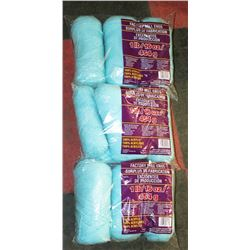 LOT OF 3- MEDIUM BLUE YARN