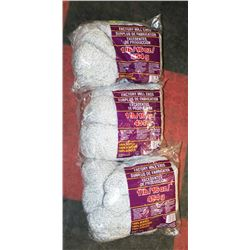 LOT OF 3- GREY/WHITE MIX YARN