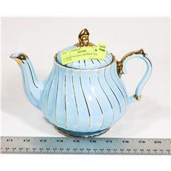 SADLER TEA POT ANTIQUE GOLD PLATED