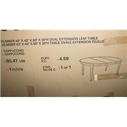 """NEW 42""""X42""""X60"""" EXTENSION LEAF TABLE AS IS"""