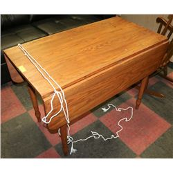 "FARMHOUSE DROP LEAF OAK TABLE, 29.5""H"