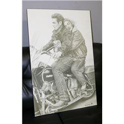 JAMES DEAN & MARILYN MONROE ON A MOTORCYCLE