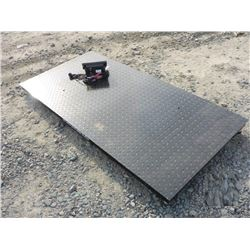 "10 TON DIGITAL FLOOR SCALE WITH 78"" PLATFORM"