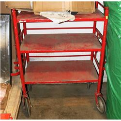 RED METAL COMMERCIAL CART