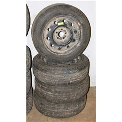 LOT OF 4  DODGE MAGNUM TIRES, 215/60R 17