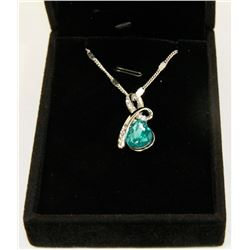 AQUA GREEN FASHION NECKLACE WITH