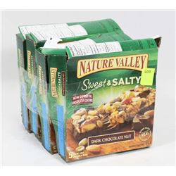 4 BOXES NATURE VALLEY DARK CHOCOLATE NUT GRANOLA