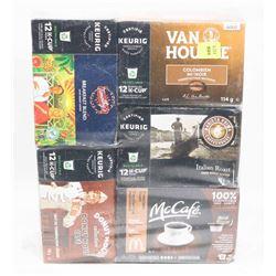 5 BOXES OF KEURIG KCUP COFFEE