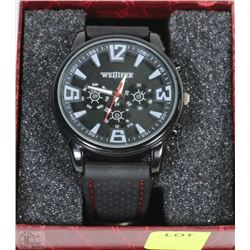 WEIJIEER MENS WATCH WITH RUBBER STRAP