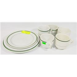 8 PIECES OF VITRIFIED DISHES