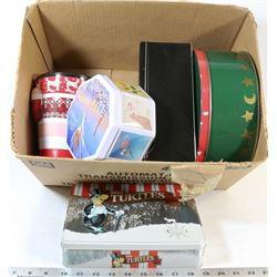 BOX OF COLLECTORS TINS