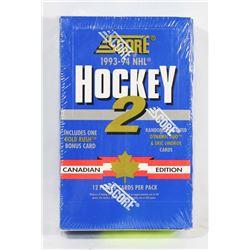 1993-94 SCORE HOCKEY 2 FACTORY SEALED BOX