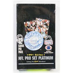 1991 PRO SET PLATINUM NFL FACTORY SEALED BOX,
