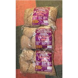 LOT OF 3- BROWN YARN