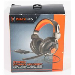 BLACKWEB STEREO GAMING HEADSET WITH MIC