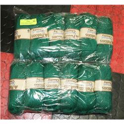 LOT OF 12 PATONS SHETLAND CHUNKY EMERALD YARN