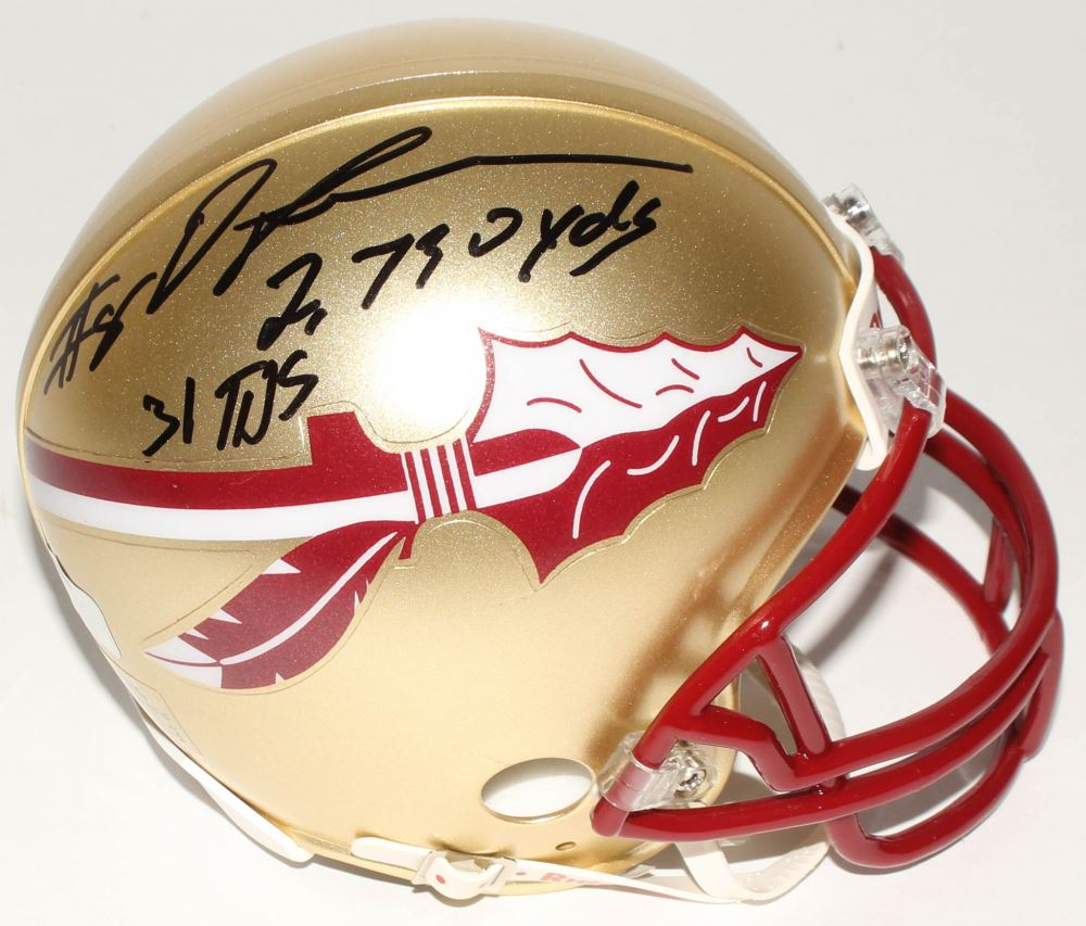 f46f41a8587 Image 1 : Devonta Freeman Signed Florida State Seminoles Mini Helmet  Inscribed