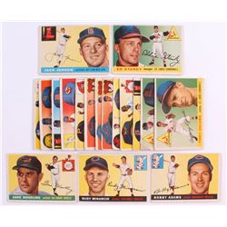 Lot Of 20 1955 Topps Baseball Cards With 200 Jackie