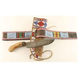 Blackfoot Belt & Scabbard with Knife