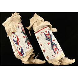 Plains Indian Beaded Leggings & Moccs