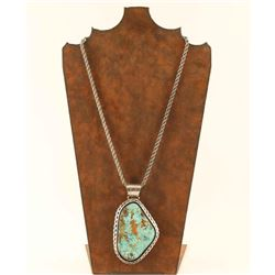 Large Light Blue Turquoise Pendant