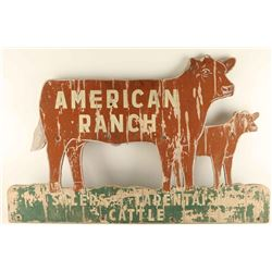 American Ranch Wood Sign