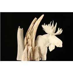 Antler Sculpture of Moose