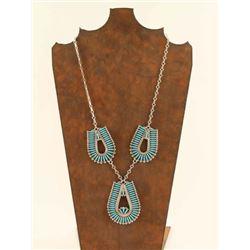 Zuni Needlepoint Turquoise Necklace