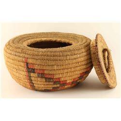 Salish NW Coast lidded Basket
