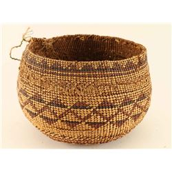 Antique Hupa Tribe Basket