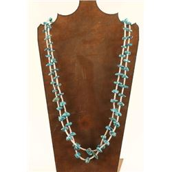 Turquoise Nugget & Heishi Necklace