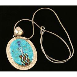 Zuni Inlaid Kachina Pendant