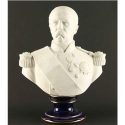 Blanc de Chine Sevres Porcelain Bust of General