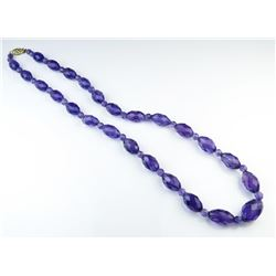 Elegant Faceted Amethyst Beaded Necklace