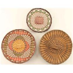 Lotof 3 Hopi Wicker Trays