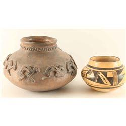 Lot of 2 Native American Pots
