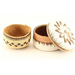 (2) Miniature Native Baskets