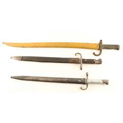 Lot of 3 Bayonets
