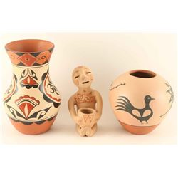 3 Pottery Items