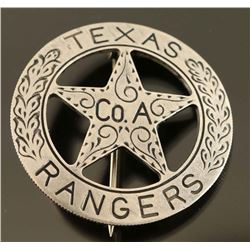 Old West Texas Rangers Company A Cowboy Era Law