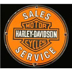 Vintage Harley Davidson Porcelain Motorcycle