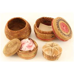 Lot of 4 Native American Baskets