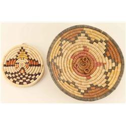 Lot of 2 Hopi Basketry Trays