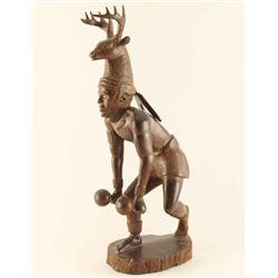 Ironwood Carving of Indian Kachina Dancer with