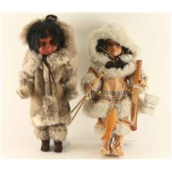 Lot of 2 Eskimo Dolls
