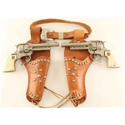 Hubley Texas Jr. Cap Guns & Holster Rig