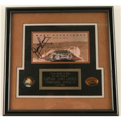 James Lovell Signed Mars Pathfinder Souvenir Stamp
